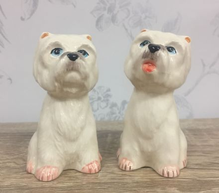 Westie Dog Salt & Pepper Shaker Dogs Cruet Set